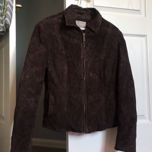 Jackets & Blazers - Brown Suede Coat